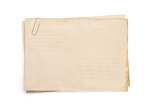 Old vintage envelope  on white Royalty Free Stock Photography