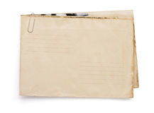 Old vintage envelope  on white Stock Images