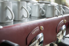Old vintage espresso machine Royalty Free Stock Image