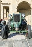 Old vintage farm tractor. Color image Stock Image