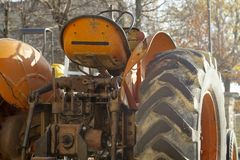 Old vintage farm tractor. Color image Stock Images