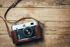 Old vintage film photo camera Stock Photography