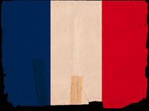 Old Vintage Flag France Stock Photos