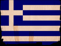 Old Vintage Flag Greece Stock Image