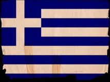 Old Vintage Flag Greece Stock Image