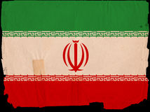 Old Vintage Flag Iran Stock Images
