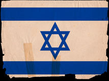 Old Vintage Flag Israel Royalty Free Stock Photos