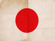 Old Vintage Flag Japan Royalty Free Stock Photo