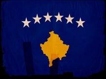 Old Vintage Flag Kosovo Royalty Free Stock Photos