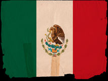 Old Vintage Flag Mexico Stock Photography