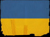 Old Vintage Flag Ukraine Stock Photo