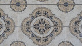 Free Old Vintage Floor Tiles Ornament Background  In The Antic Church Stock Photos - 182517133