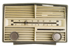 Old vintage AM FM radio isolated Stock Photography
