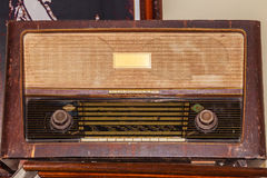 Old FM radio receiver since world war II period. Stock Image