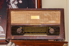 Old FM radio receiver since world war II period. Stock Photography