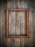 Old Vintage Frame On The Wooden Wall Stock Images