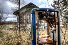 Old Vintage Gas Pump Stock Photography