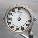 Old Vintage German Airplane Fuel gage, scale with an arrow, , 0-85 liters.  royalty free stock images