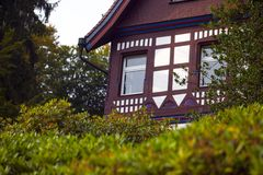 Old Vintage German Houses Architecture Stock Image