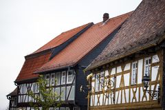 Old Vintage German Houses Architecture Stock Photo