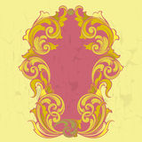 Old vintage gold frame. In baroque style with crackle Royalty Free Stock Photography