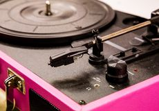 Old vintage good looking turntable Stock Photos