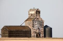 Old Vintage Grain Elevator. Saskatchewan Canada Royalty Free Stock Images