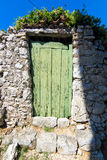 Old vintage green doors Royalty Free Stock Photography