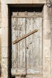 Old vintage green wooden door Stock Photos