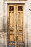 Old vintage green wooden door Royalty Free Stock Photos