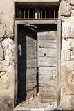 Old vintage green wooden door Royalty Free Stock Photo