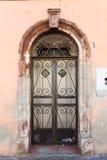 Old vintage green wooden door Stock Image