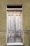 Old vintage green wooden door Royalty Free Stock Photos