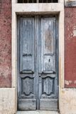 Old vintage green wooden door Royalty Free Stock Photography