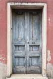 Old vintage green wooden door Royalty Free Stock Photo