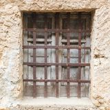 Old vintage green wooden window Stock Photos