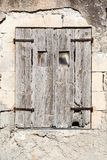 Old vintage green wooden window Royalty Free Stock Photos