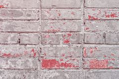 Old Vintage Grey Red Brick Wall Texture Background royalty free stock image