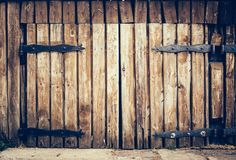 Old wooden vintage grunge door royalty free stock photography