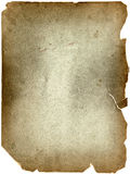 Old vintage grunge paper sheet isolated on white Royalty Free Stock Image