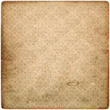 Old vintage grunge paper sheet with pattern Stock Photography