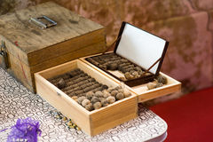 Old Vintage Gun Powder and Bullets Stock Photography