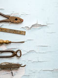 Old vintage hand tools Stock Photography