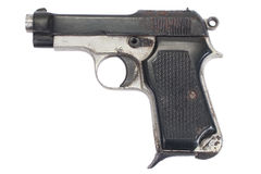 Old vintage handgun Royalty Free Stock Photography