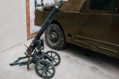 Old vintage handmade machine gun Royalty Free Stock Photo
