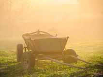 Old vintage hay wagon Stock Photo