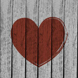 Old vintage heart. Abstract background Stock Photography