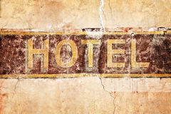 Old vintage hotel sign Royalty Free Stock Photos