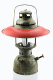 Old or vintage hurricane lamp on white background, Material corrosion of lamp material Royalty Free Stock Images