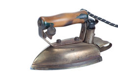 Old vintage iron. Isolated in white Stock Photos